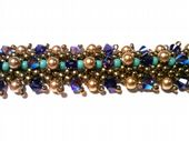 St Peterburg Double Chain Bracelet Kit SWAROVSKI Purple Green and bronze